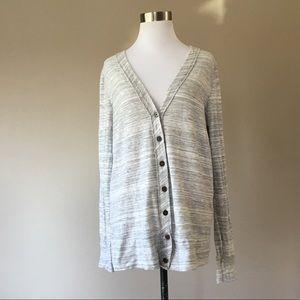 J. Crew Cotton Wool Cardigan Medium